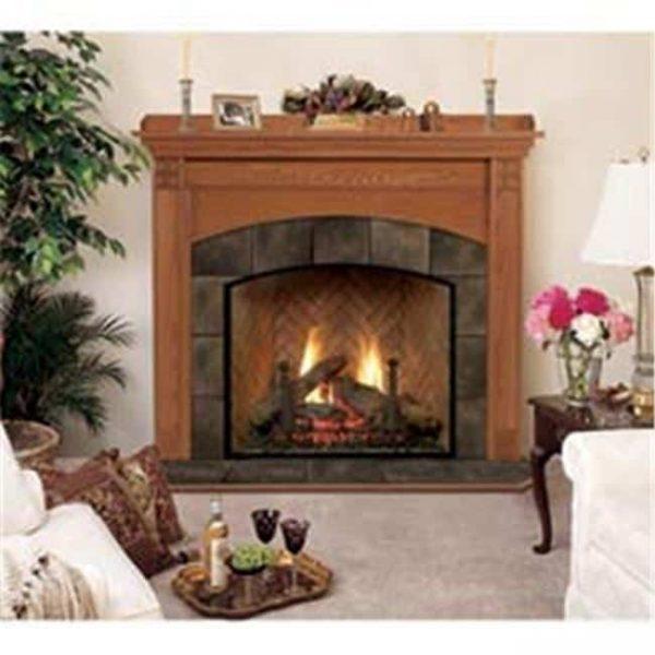 Royalton A Flush Fireplace Mantel in Medium English Chestnut
