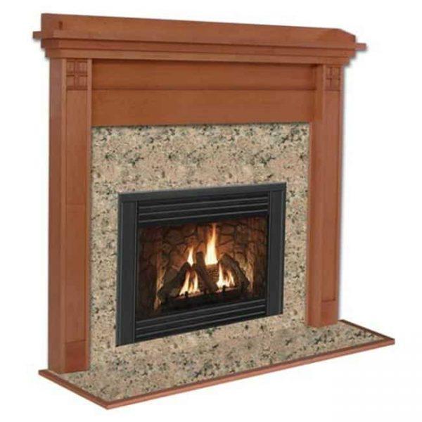 Royalton R Flush Fireplace Mantel in Medium Provincial