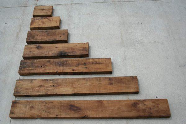 "Rustic Farmhouse Wood Mantel Shelf 36""L x 3"" Thick x 8"" Wide Coffee 2"