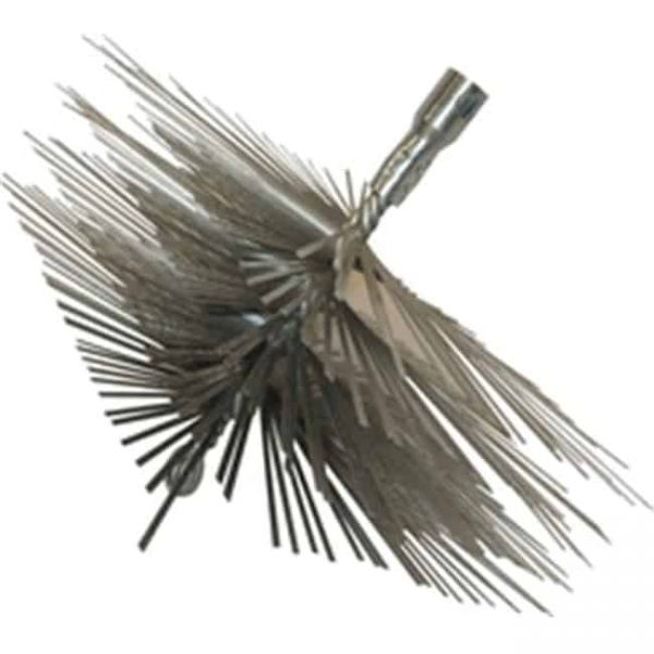 Rutland MSFT-1212 12 in. X 12 in. Square Master Sweep Flat Wire Brush Head With Tlc Torque Lock Connector