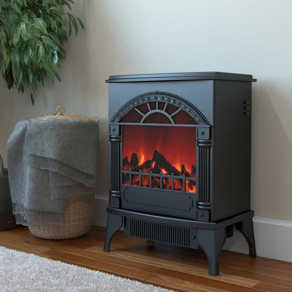 Ryan Rove Apollo Electric Fireplace Free Standing Portable Space Heater Stove 1