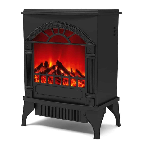 Ryan Rove Apollo Electric Fireplace Free Standing Portable Space Heater Stove