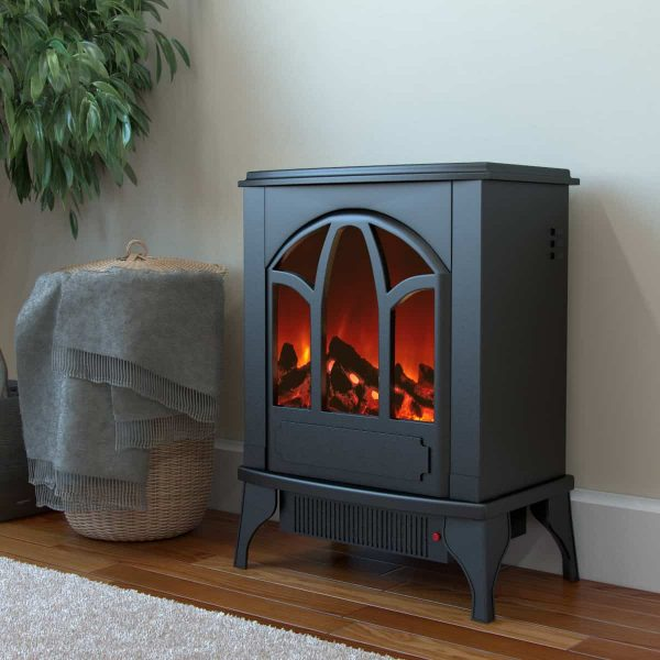 Ryan Rove Juno Electric Fireplace Free Standing Portable Space Heater Stove 1