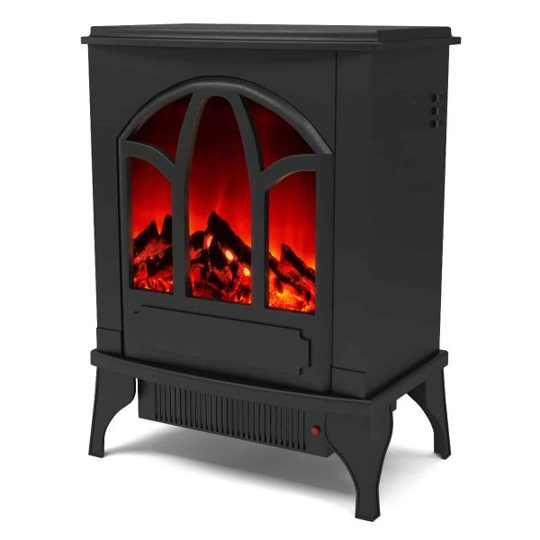 Ryan Rove Juno Electric Fireplace Free Standing Portable Space Heater Stove