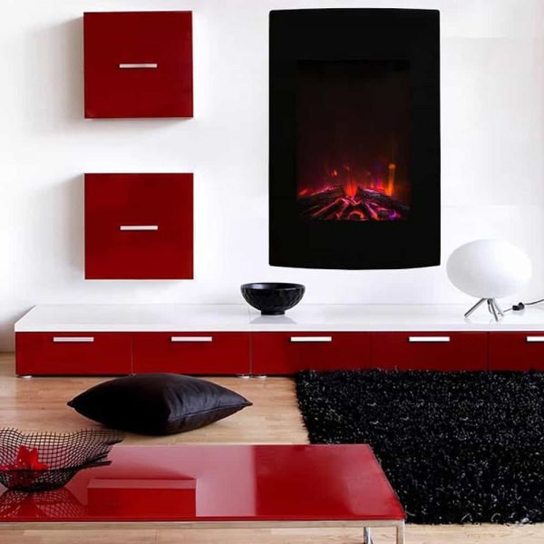 "Ryan Rove Oasis 23"" Ventless Heater Electric Wall Mounted Fireplace Multi-Color"