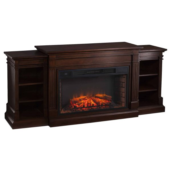 Ryhorn Low Profile Electric Fireplace, Espresso 1
