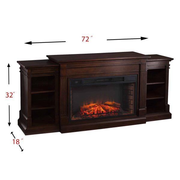 Ryhorn Low Profile Electric Fireplace, Espresso 3