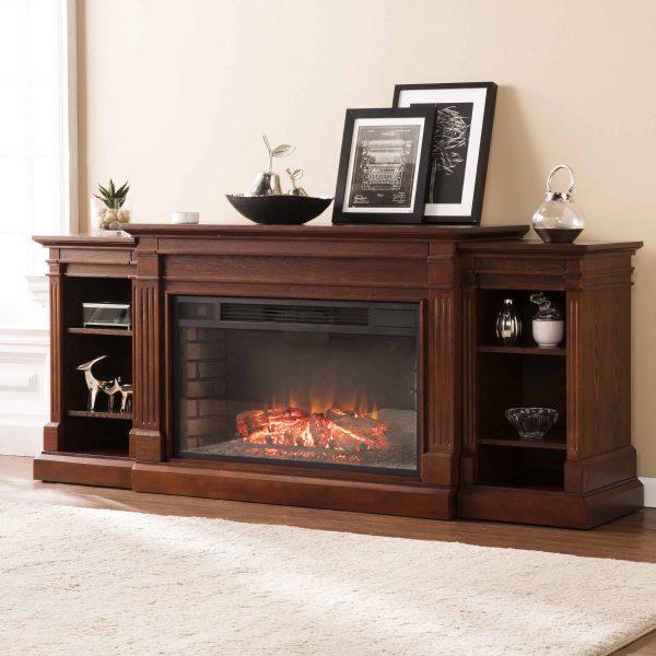 Ryhorn Low Profile Electric Fireplace, Espresso 4