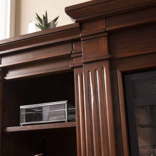 Ryhorn Low Profile Electric Fireplace, Espresso 6