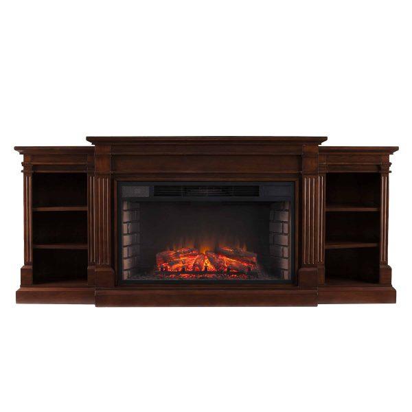 Ryhorn Low Profile Electric Fireplace, Espresso 7