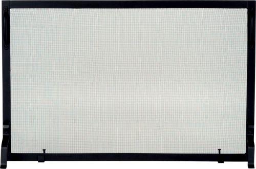 S129-1 Black Wrought Iron Panel Screen - 25 inch