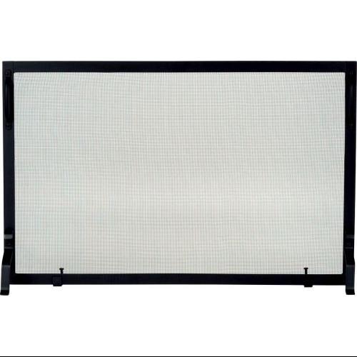 S129-2 Black Wrought Iron Panel Screen - 25 inch