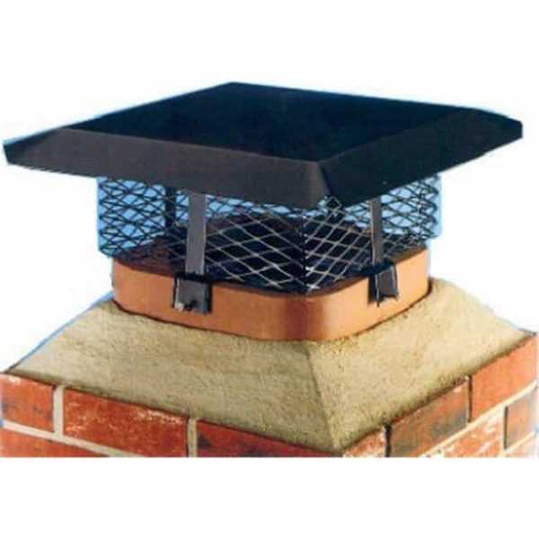SCADJ-L-C 15.1 x 11.86 in. Multi-Fit Chimney Cover - Black