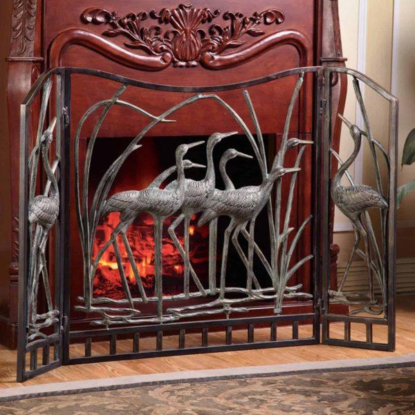 SPI Home 33791 Crane Flock Fireplace Screen 2