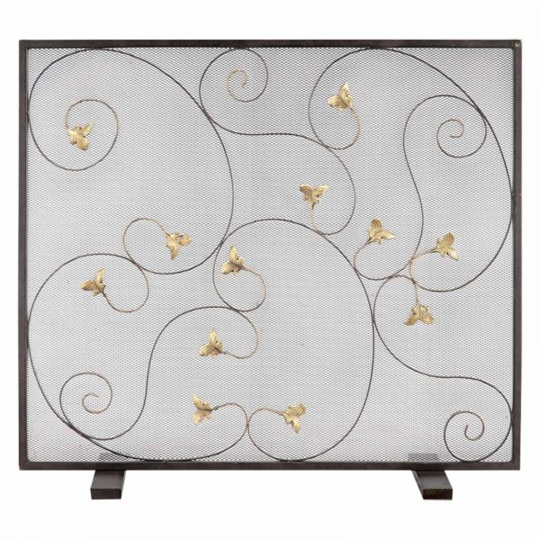 San Pacific International Acanthus Leaf Fireplace Screen