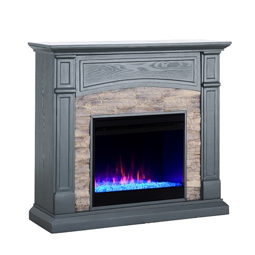 Sanstone Color Changing Media Fireplace – Gray 10