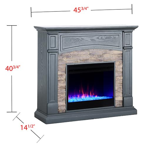 Sanstone Color Changing Media Fireplace – Gray 12