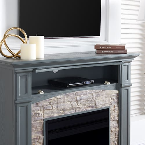 Sanstone Color Changing Media Fireplace – Gray 3