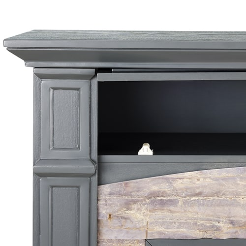 Sanstone Color Changing Media Fireplace – Gray 6