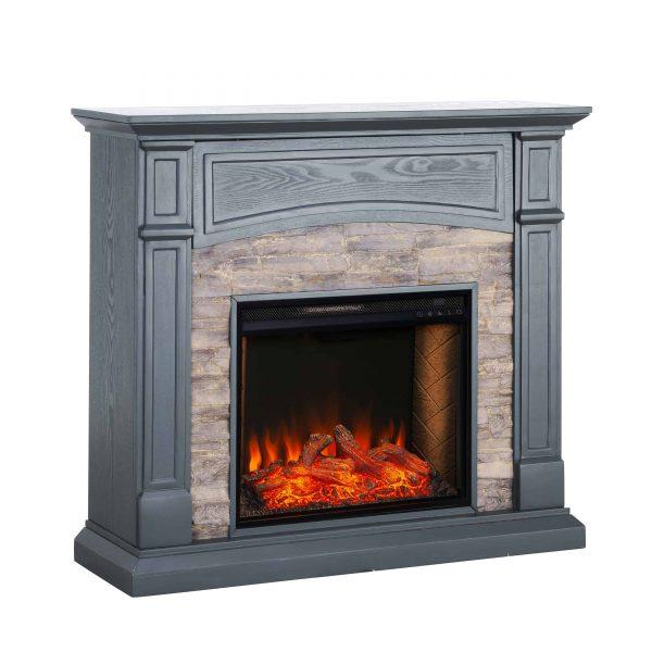 Sanstone Smart Media Fireplace - Gray 11