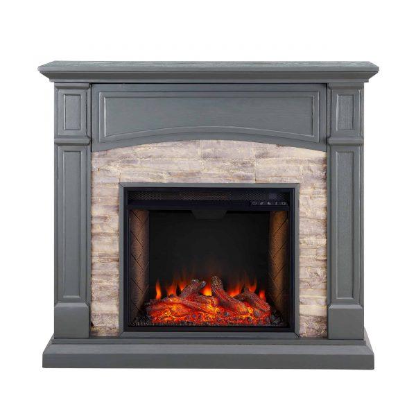 Sanstone Smart Media Fireplace - Gray 2