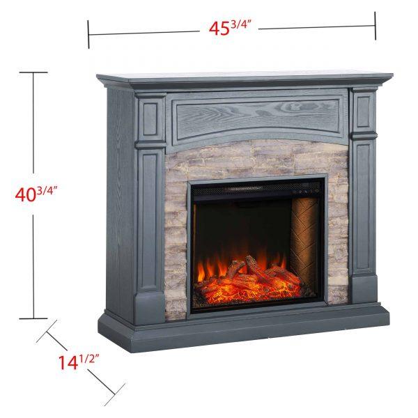 Sanstone Smart Media Fireplace - Gray 5
