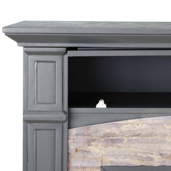 Sanstone Smart Media Fireplace - Gray 7