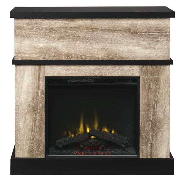 Sarah Electric Fireplace Mantel by Cᶟ, Distressed Oak 1