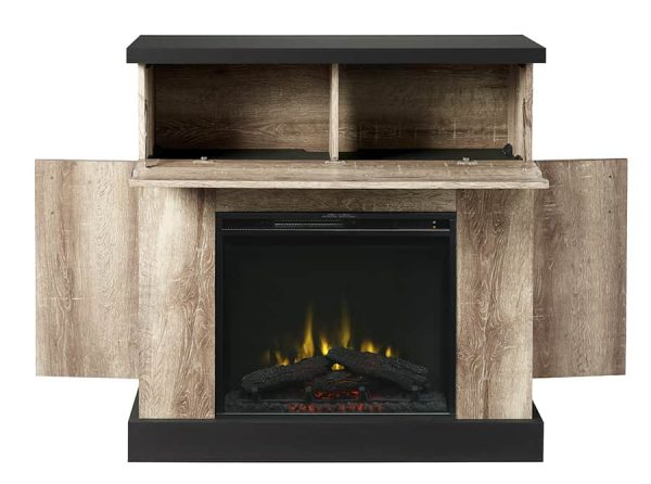 Sarah Electric Fireplace Mantel by Cᶟ, Distressed Oak 2
