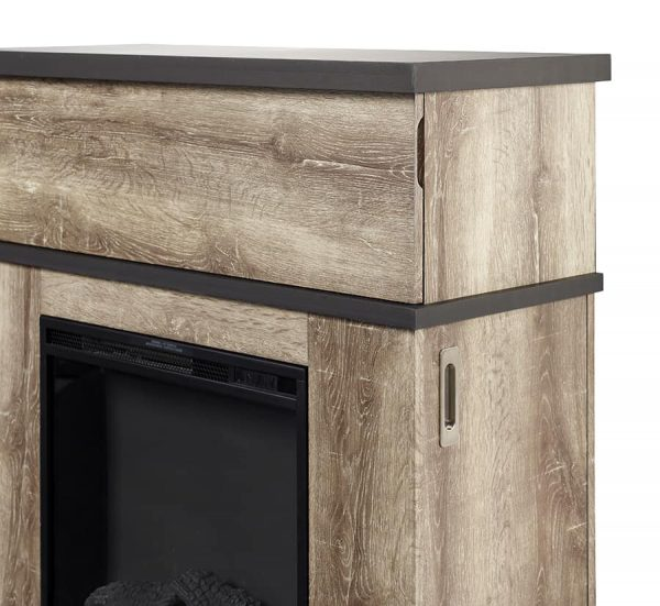 Sarah Electric Fireplace Mantel by Cᶟ, Distressed Oak 3