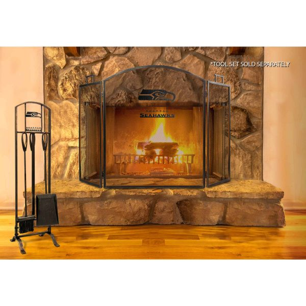 Seattle Seahawks Imperial Fireplace Screen - Brown 1