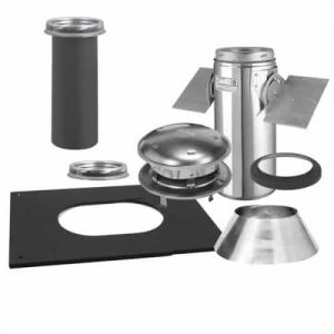 "Selkirk 6"" Ultra-Temp Pitched Ceiling Support Kit Stainless"