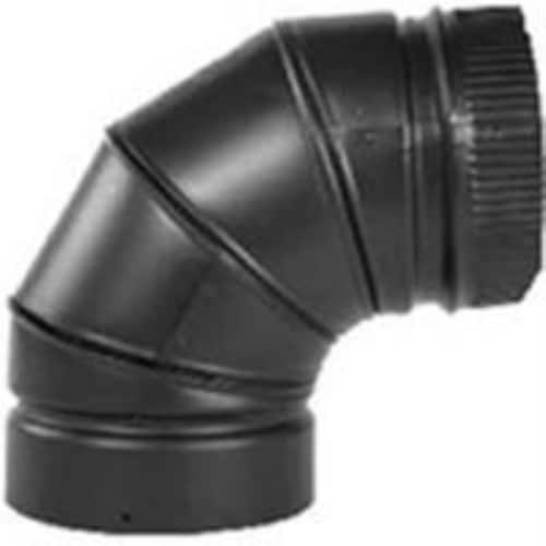 Selkirk Inc Elbow Stovepipe 90Deg 7In Blk DSP7E9-1 1