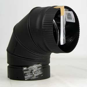 Selkirk Inc Elbow Stovepipe 90Deg 7In Blk DSP7E9-1