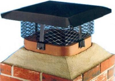 Shelter Black Steel Multi Fit Chimney Cover Adjusts To 7 Large Sizes