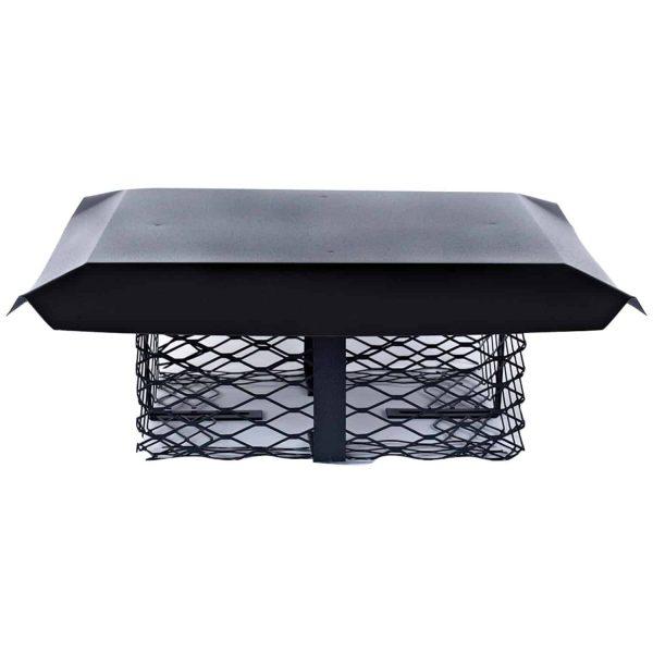 Shelter SCADJ-L Single-Flue Adjustable Black Galvanized-Steel Chimney Cap (Large) 1