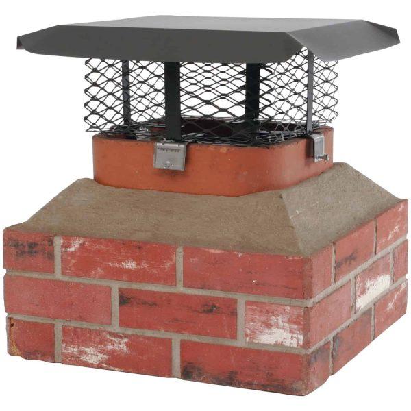 Shelter SCADJ-L Single-Flue Adjustable Black Galvanized-Steel Chimney Cap (Large) 2