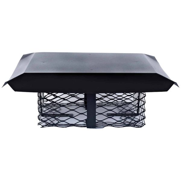 Shelter SCADJ-S Single-Flue Adjustable Black Galvanized-Steel Chimney Cap (Small) 1