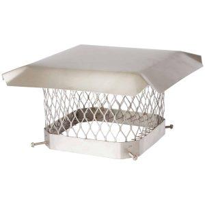 "Shelter SCSS99 Single-Flue Stainless Steel Chimney Cap (9"" x 9"")"