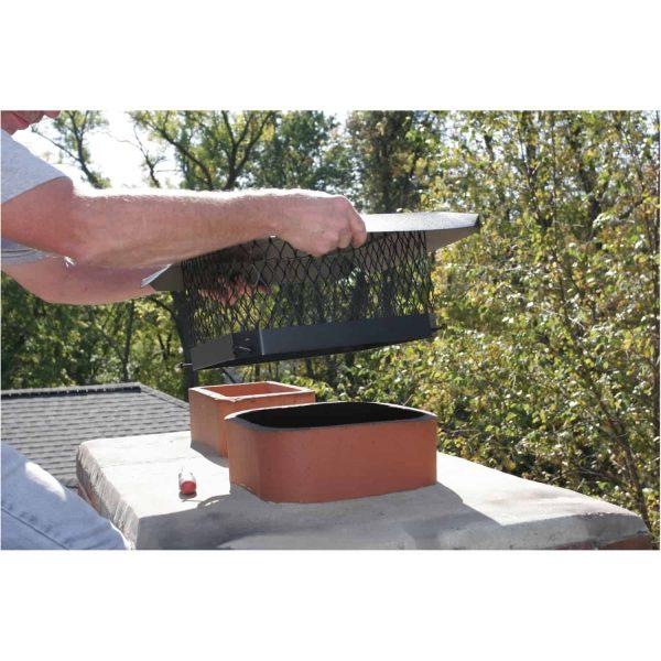 Shelter Single-Flue Black Galvanized-Steel Chimney Cap 1