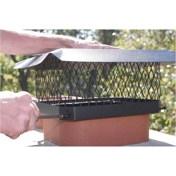 Shelter Single-Flue Black Galvanized-Steel Chimney Cap 2