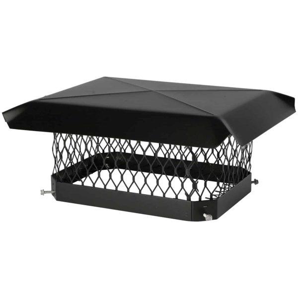 Shelter Single-Flue Black Galvanized-Steel Chimney Cap