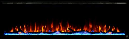 """Sideline Elite 72"""" Recessed Electric Fireplace"""