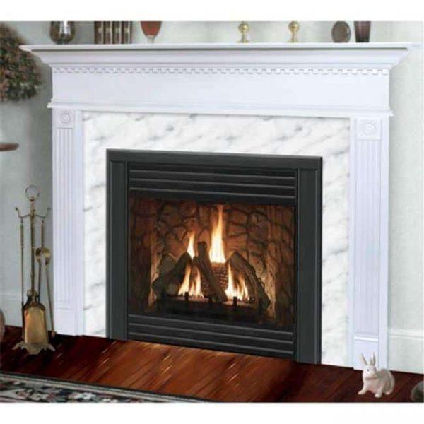 Sienna Flush Fireplace Mantel in Medium Provincial