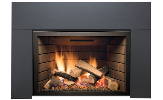 Sierra Flame ABBOT-30BL-DELUXE-LP 30 in. Abbott Insert Direct Vent Gas Fireplace - Deluxe with Logs - Liquid Propane 1