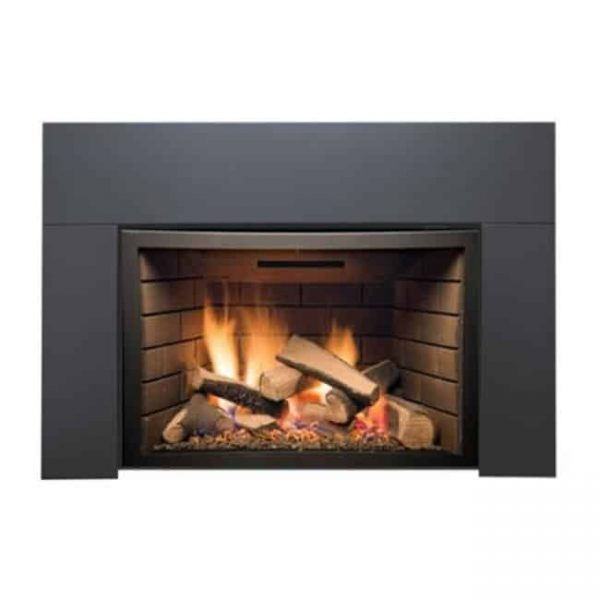 Sierra Flame ABBOT-30BL-DELUXE-LP 30 in. Abbott Insert Direct Vent Gas Fireplace - Deluxe with Logs - Liquid Propane