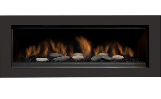 Sierra Flame AUSTIN-65G-NG-DELUXE 65 in. Austin Direct Vent Linear Gas Fireplace - Natural Gas 1