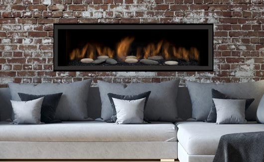 Sierra Flame AUSTIN-65G-NG-DELUXE 65 in. Austin Direct Vent Linear Gas Fireplace - Natural Gas 2