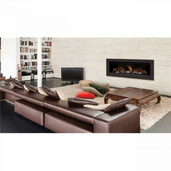 Sierra Flame AUSTIN-65G-NG-DELUXE 65 in. Austin Direct Vent Linear Gas Fireplace - Natural Gas