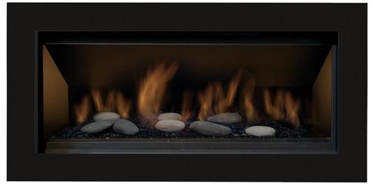 Sierra Flame BENNETT-45-LP 45 in. Bennett Linear Direct Vent Gas Fireplace - Liquid Propane 1
